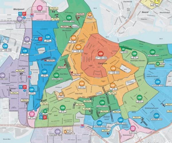 Amsterdam Car Park Map